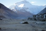 Everest from the Tibet side - the Enfield never missed a beat