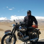 A65 on the Tibetan plateau @ 14000ft - visit www.ridehigh.com